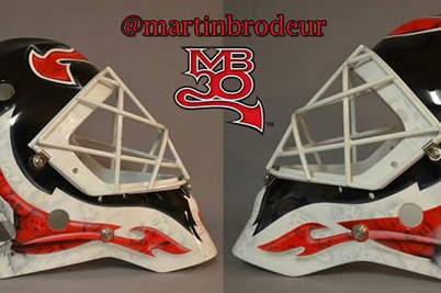Photo: Brodeur Unveils '13-14 Mask Featuring Pet Dogs