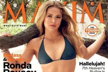 Ronda Rousey Makes September Cover of Maxim Magazine, Poses Topless