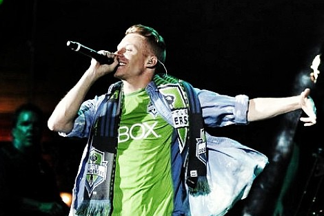 Instagram: Macklemore Dons Sounders Green