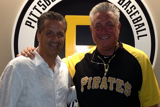 Photo: John Calipari Hangs out with Pittsburgh Pirates Manager Clint Hurdle