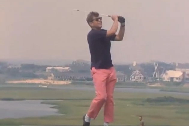 President John F. Kennedy's Sweet Golf Stroke and Pants Revealed in Old Footage