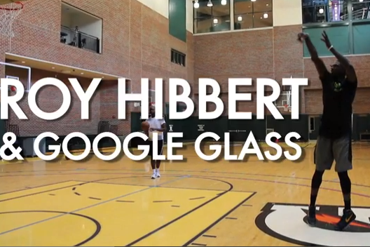 VIDEO: Indiana Pacers' Roy Hibbert Works out with Google Glass