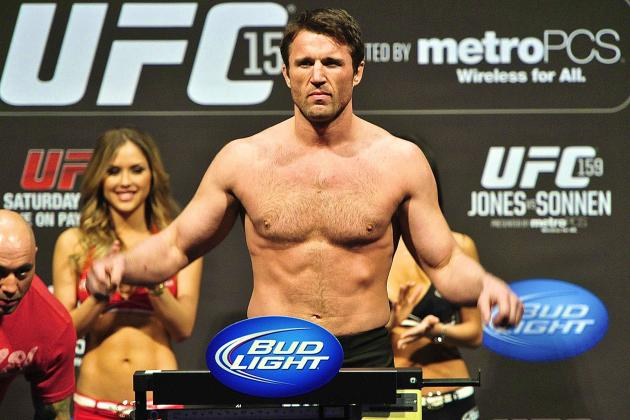 Chael Sonnen's TUE for TRT Not a Done Deal for Massachusetts Athletic Commission