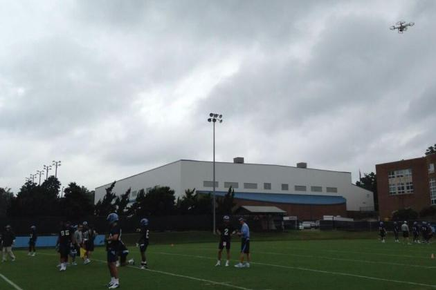 Photo: North Carolina Gets New Drone to Film Football Practice