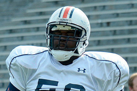 Defensive Tackle Ben Bradley Sheds Pounds as Auburn Players...