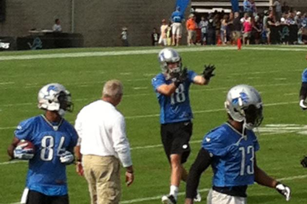 Detroit Lions 2013 Training Camp Report: Friday, August 2