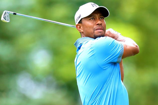 Tiger Woods at Bridgestone Invitational 2013: Day 2 Recap and Twitter Reaction