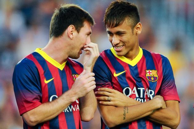 Analysing How Barcelona Used Neymar and Messi vs. Santos
