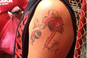 Nebraska Fan Gets Hoffman Tattoo