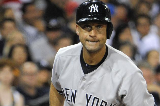 Jeter out Rest of Weekend with Leg Issue