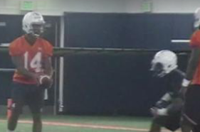 Watch Auburn QBs Marshall, Johnson Throw During Practice