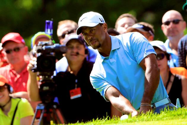 Tiger's Incredible Chip-In for Birdie on 13 at the Bridgestone Invitational