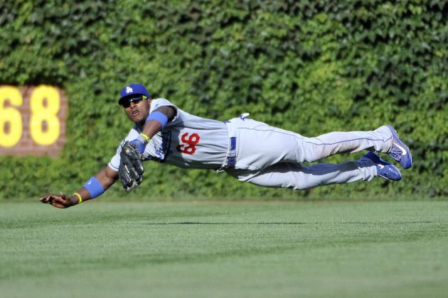 Yasiel Puig Day-to-Day with Wrist Contusion After Making Diving Catch