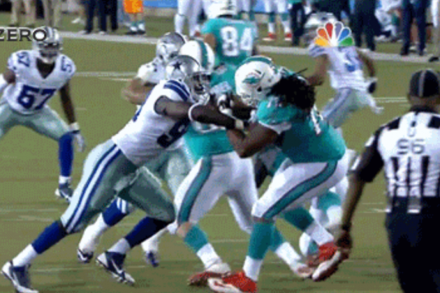 Cowboys Defensive End George Selvie Bull-Rushes His Way to Sack