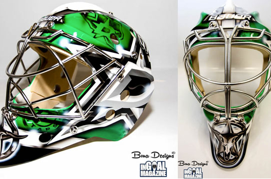 Photo: Lehtonen's New Mask Embraces Stars' New Look