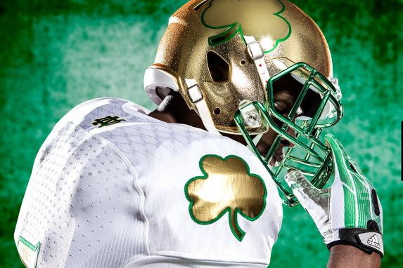 Breaking Down Notre Dame's 2013 Shamrock Series Uniforms