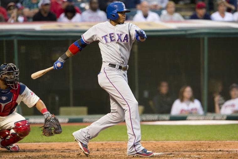 Engel Beltre Playing LF and Batting 9th vs. Angels