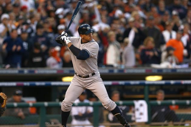 Alex Rodriguez Goes 1-for-4 in Season Debut