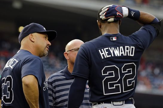 Heyward Leaves in 1st vs. Nats with Strained Neck Muscle