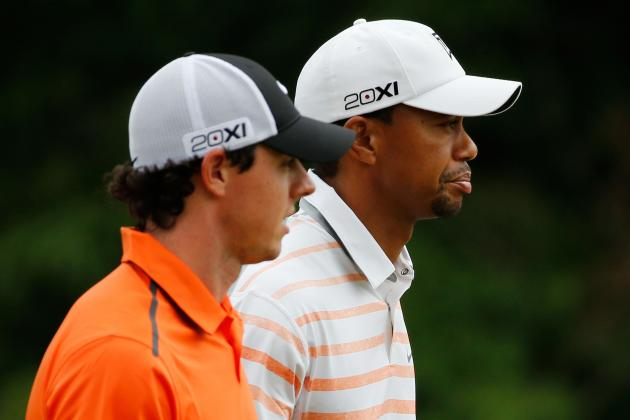Who's Under More Pressure at PGA Championship: Tiger Woods or Rory McIlroy?