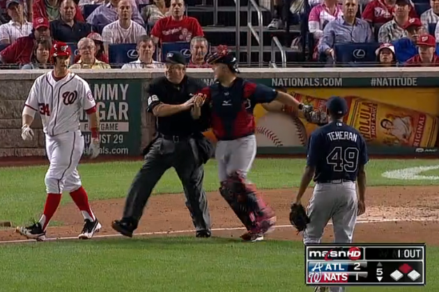 Bryce Harper Hit-by-Pitch Clears Benches, Spawns Nats vs. Braves Twitter War