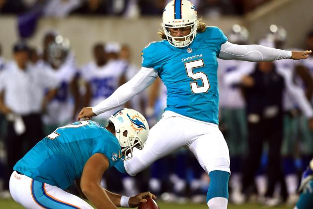 Kicker Dan Carpenter Raises the Bar for Rookie Kicker Caleb Sturgis