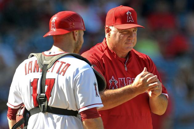Mike Scioscia Angrily Defends Chris Iannetta