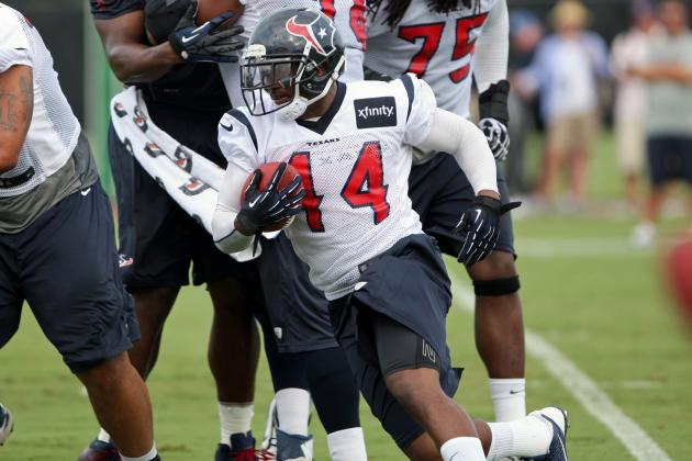 RB Ben Tate Back at Practice, Might Play Friday
