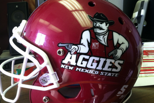 New Mexico State Football: New Pistol Pete Helmets (PHOTOS)
