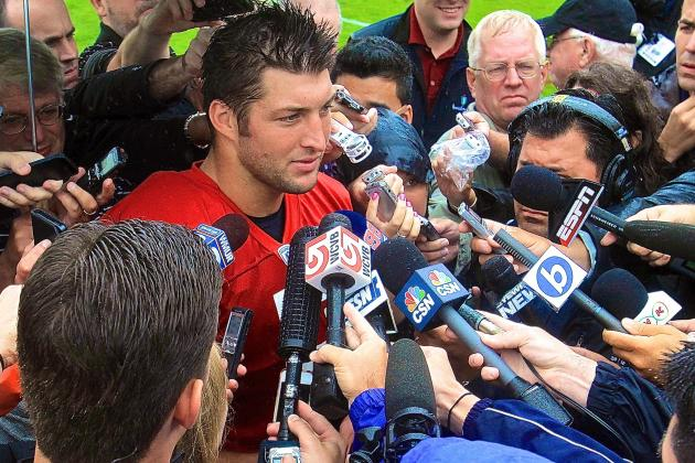 Tim Tebow Says He Prayed for Ex-Teammate Riley Cooper After Racial-Slur Incident