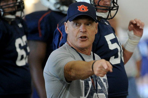 Auburn Offensive Line Coach J.B. Grimes Misses Practice for Medical Procedure