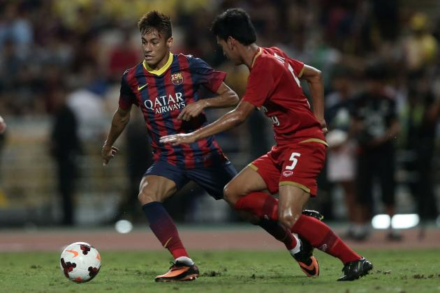 Neymar's First Goal Highlights Barcelona's Rout of Thailand