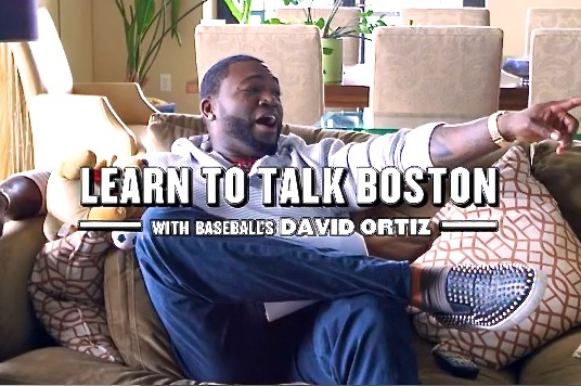 Big Papi Teaches a Boston Accent