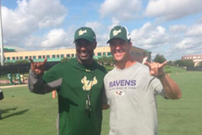 Ravens Coach John Harbaugh Visits the South Florida Bulls, Gives Pep Talk