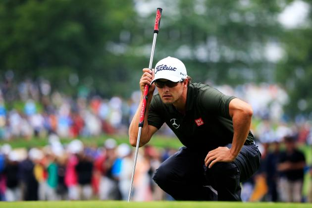PGA Championship Leaderboard 2013: Updates on Tiger Woods, Adam Scott and More