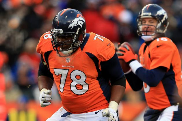 Broncos' Ryan Clady Back at Left Tackle in Practice