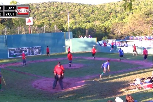 Sick Wiffle Ball Catch at 'Little Fenway'