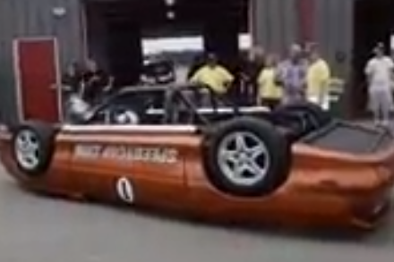 This Upside Down Camaro/Festiva Monster Is the Craziest Car at LeMons
