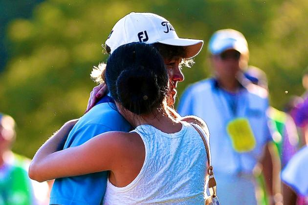Jason Dufner, Wife Amanda Embrace After 2013 PGA Championship Win