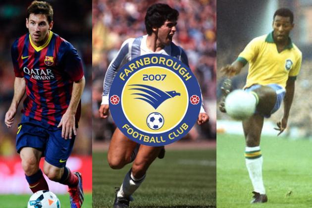 Messi, Maradona and Pele to Appear at Non-League Farnborough FC Next Season