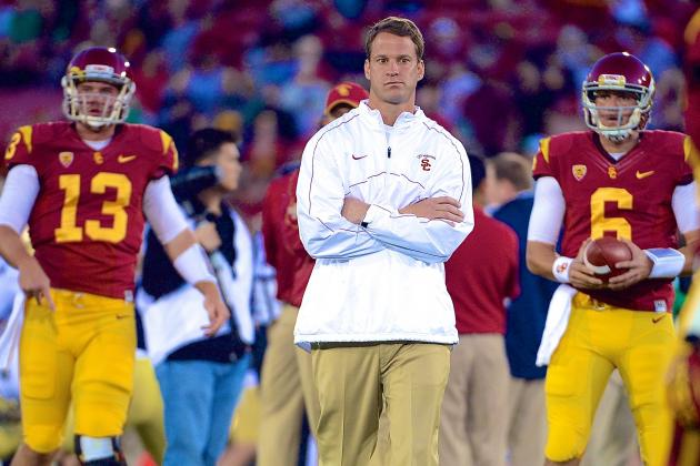 USC Football: Lane Kiffin Narrows Quarterback Derby Down to 2