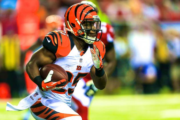 Knile Davis, Giovani Bernard and Top Fantasy Football Handcuffs for 2013