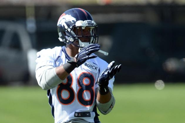 Demaryius Thomas focuses more on fitness than status at Broncos camp