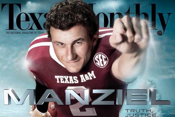 This Magazine Cover of Johnny Manziel Won't Do Anything to Calm His Ego