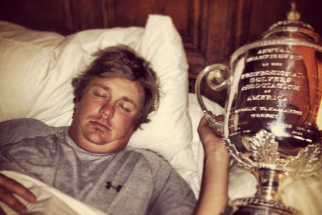 Jason Dufner Sleeps with Wanamaker Trophy, Tells Us How Many Beers Fits in It