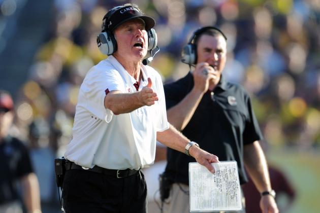 SEC Football: Is Steve Spurrier the Biggest Road Block for an Alabama 3-Peat?