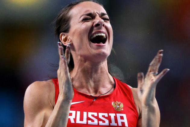 Russia Rejoices as Yelena Isinbayeva Wins Pole Vault World Title over Jenn Suhr
