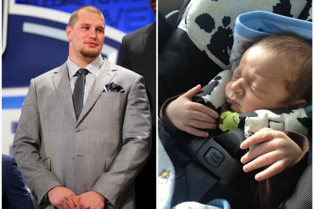 Eagles Offensive Lineman Lane Johnson's Baby Has Massive Hands