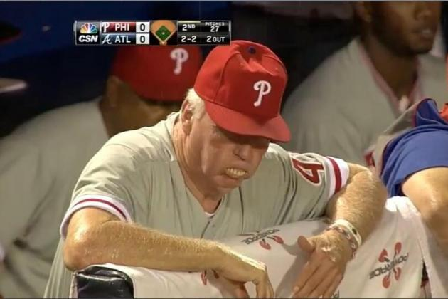 Philadelphia Phillies Manager Charlie Manuel Popped Out His Dentures
