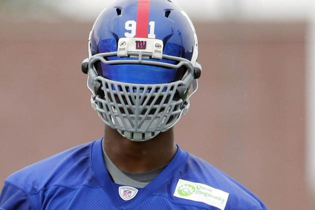 NY Giants DE Justin Tuck Can Keep Non-Standard Facemask